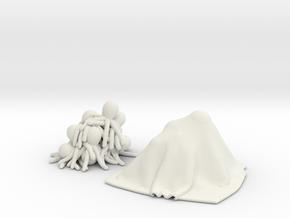 octopus in White Natural Versatile Plastic