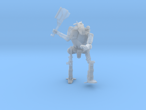 3 inch BattleMech Hatchetman Combat in Smooth Fine Detail Plastic