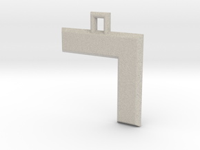 ABC Pendant - 7 Type - Solid - 24x24x3 mm in Natural Sandstone