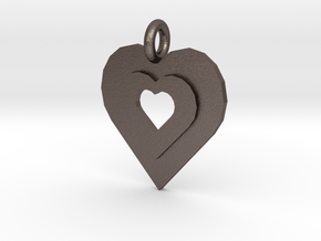 heart of gold in Polished Bronzed Silver Steel