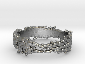 OuroBoros Ring Size 11.25 in Natural Silver