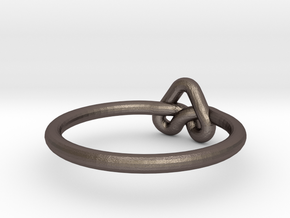 Love Knot-sz20 in Polished Bronzed Silver Steel
