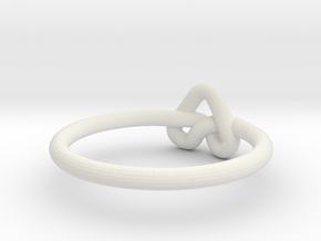 Love Knot-sz19 in White Natural Versatile Plastic
