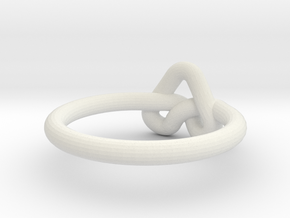 Love Knot-sz15 in White Natural Versatile Plastic