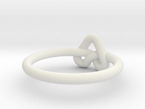 Love Knot-sz17 in White Natural Versatile Plastic