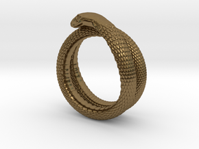 Snake Ring (various sizes) in Polished Bronze