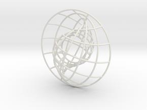 Nesting Spheres 3in in White Natural Versatile Plastic