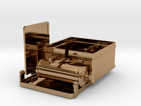1/6 scale WWII British Camp Stove in Polished Brass