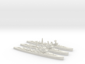 HMS Cairo (C class) 1:1800 x3 in White Natural Versatile Plastic