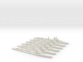 Wolfe (Type 24/Raubtier class) 1:1800 x6 in White Natural Versatile Plastic