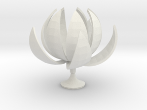 Lotus in White Natural Versatile Plastic