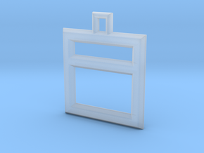 ABC Pendant - I Type - Wire - 24x24x3 mm in Smooth Fine Detail Plastic