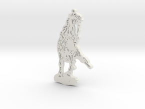"""""""Cherry the miniature trick horse sits"""" pendant or in White Natural Versatile Plastic"""