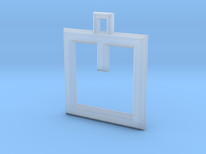 ABC Pendant - V Type - Wire - 24x24x3 mm in Smooth Fine Detail Plastic