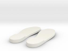Sole 4 in White Natural Versatile Plastic