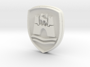 Wolfsburg logo for classic Volkswagen VW  in White Natural Versatile Plastic