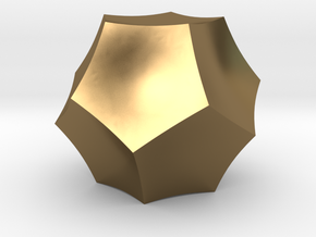 Curved Dodecahedron - Small in Polished Bronze