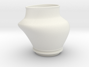 Pulled Vase Even Lip in White Natural Versatile Plastic