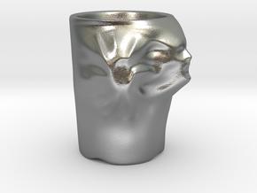 Face Escape Mug in Natural Silver