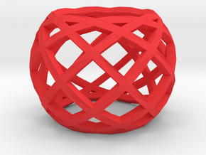 Openwork ring in Red Strong & Flexible Polished