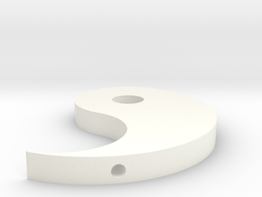 Improved Ying Yang in White Processed Versatile Plastic