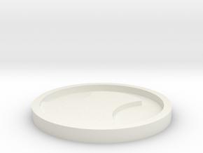 Robin Symbol  in White Natural Versatile Plastic