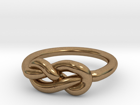 Infinity Knot-sz15 in Natural Brass