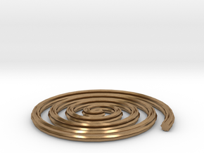 Spiral in Natural Brass