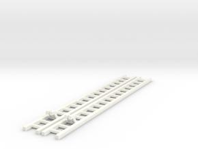 2x Corgi TT Series Ladder 14.55cm in White Processed Versatile Plastic