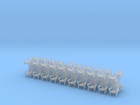 Parlor chairs X40 HO Scale (higher detail) in Smooth Fine Detail Plastic