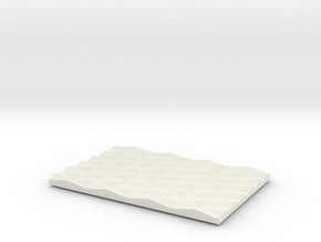 Diamond Soap Dish in White Natural Versatile Plastic