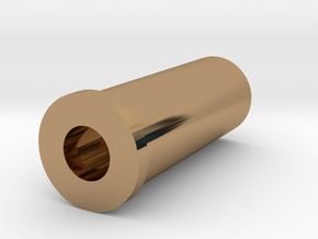 .32 S&W Long Casing Modified For 3d Printing in Polished Brass