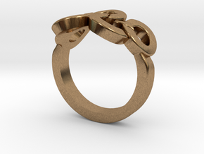 Olympic Ring-sz16 in Natural Brass