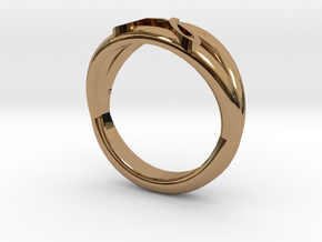 J-ring in Polished Brass