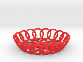 Basket in Red Processed Versatile Plastic