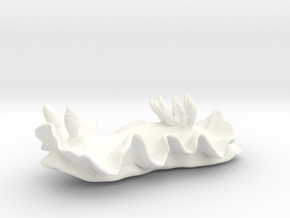 Becia the Nudibranch in White Processed Versatile Plastic: Medium