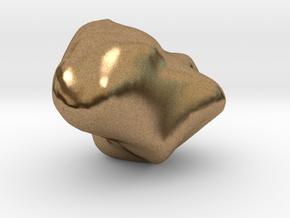Trapezium in Natural Brass