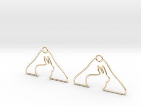 Rabbit Hanger Earring in 14K Yellow Gold