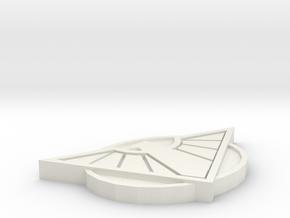 Wonder Woman Belt Buckle in White Natural Versatile Plastic