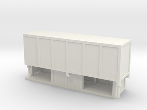 JCDecaux Shelter (enclosed) 1:148 N Gauge in White Natural Versatile Plastic