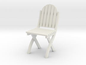 1:24 Wood Folding Chair (Not Full Size) in White Natural Versatile Plastic