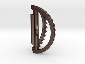 Bear Trap Necklace in Matte Bronze Steel