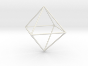 Octahedron 100mm in White Strong & Flexible