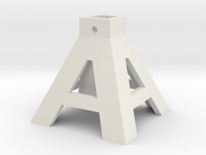 axlestand base in White Natural Versatile Plastic