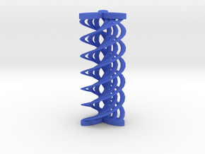 Spirals array in Blue Processed Versatile Plastic