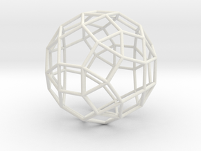 SmallRhombicosidodecahedron 100mm in White Natural Versatile Plastic