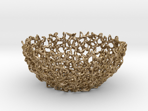 Mini Coral bowl in Polished Gold Steel