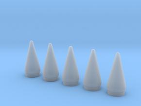 Delta II Rocket SRB Nose 1:96-Set of 5 in Smooth Fine Detail Plastic