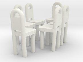 Dining Chairs 1  in White Strong & Flexible
