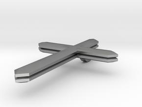 Crucifix 5 in Natural Silver